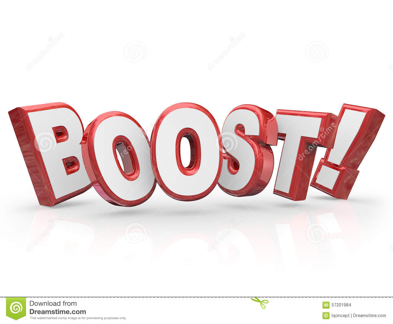 Boost Word Increase Rising Advancement Energy Stock Illustration.