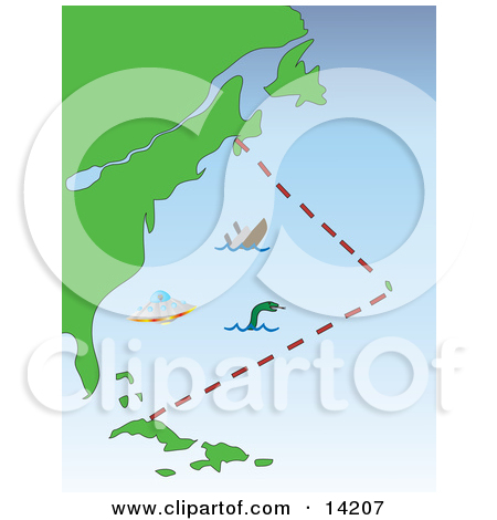 Clipart bermuda triangle.