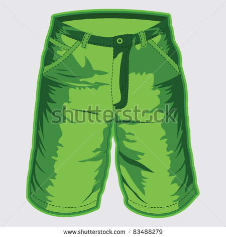 Bermuda shorts clipart.