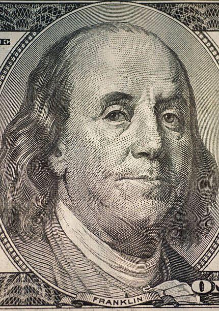 Benjamin Franklin on one hundred dollar bill.