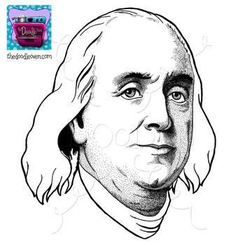 Benjamin Franklin Clipart.