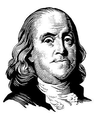 Clip Art of Ben Franklin.