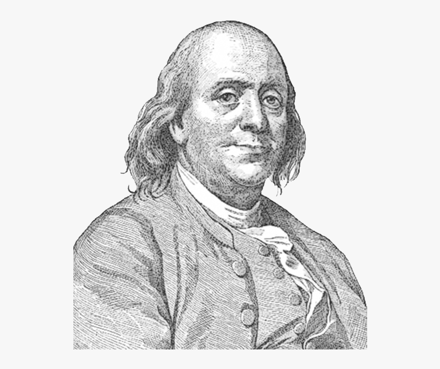 Benjamin Franklin Face Sideview.