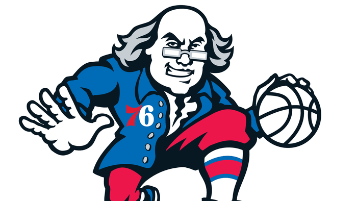 Actual Ben Franklins Rate the 76ers 'Dribbling Ben' Logo.