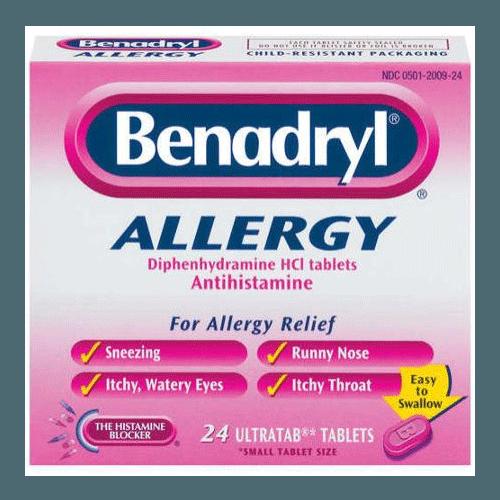 Benadryl Allergy ULTRATAB Tablets 24 Count.