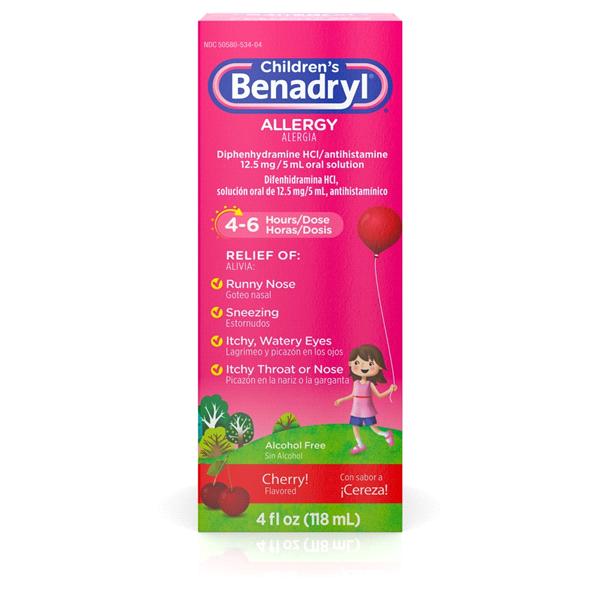 Children's Benadryl Allergy Liquid, 4 Fl. Oz.