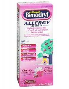 Benadryl Children's Allergy Liquid.