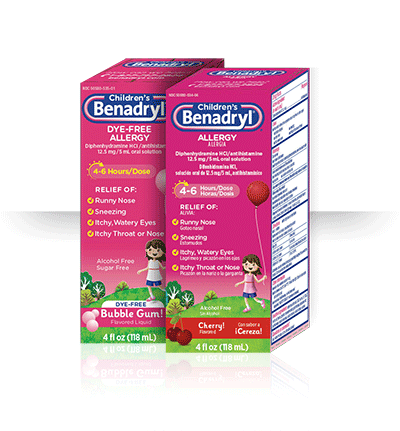 Benadryl Dosage Charts for Infants and Children.