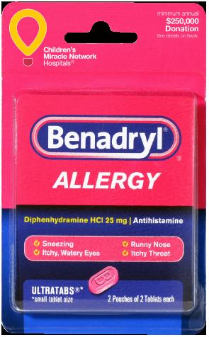 Benadryl Allergy 4 Ultratabs.
