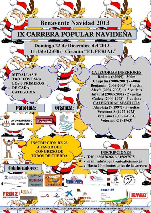 Agenda Benavente: IX Carrera Popular Navideña en Benavente.