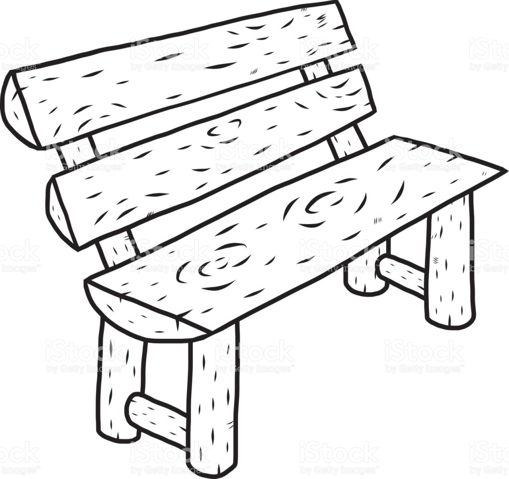 Bench clipart black and white 3 » Clipart Station.