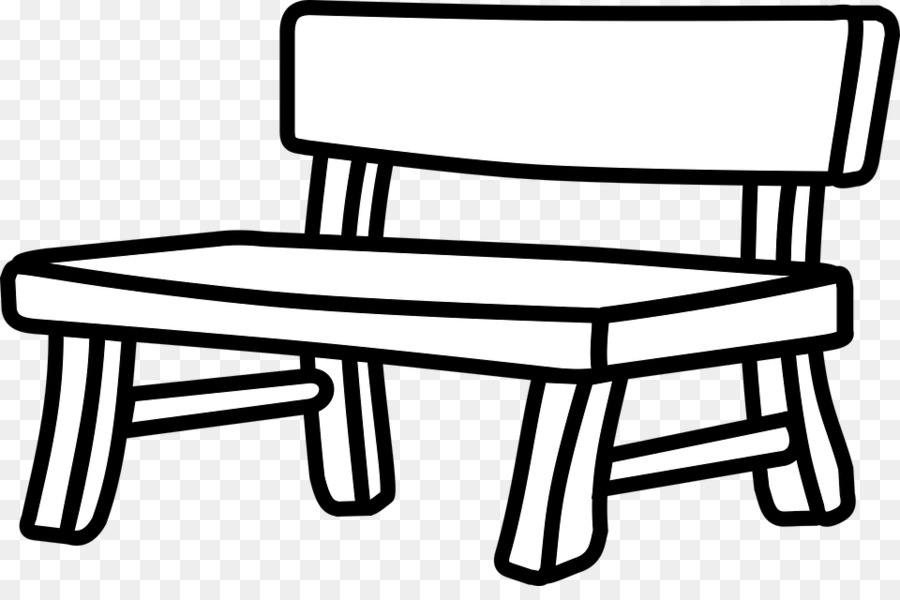 Bench clipart black and white 2 » Clipart Station.