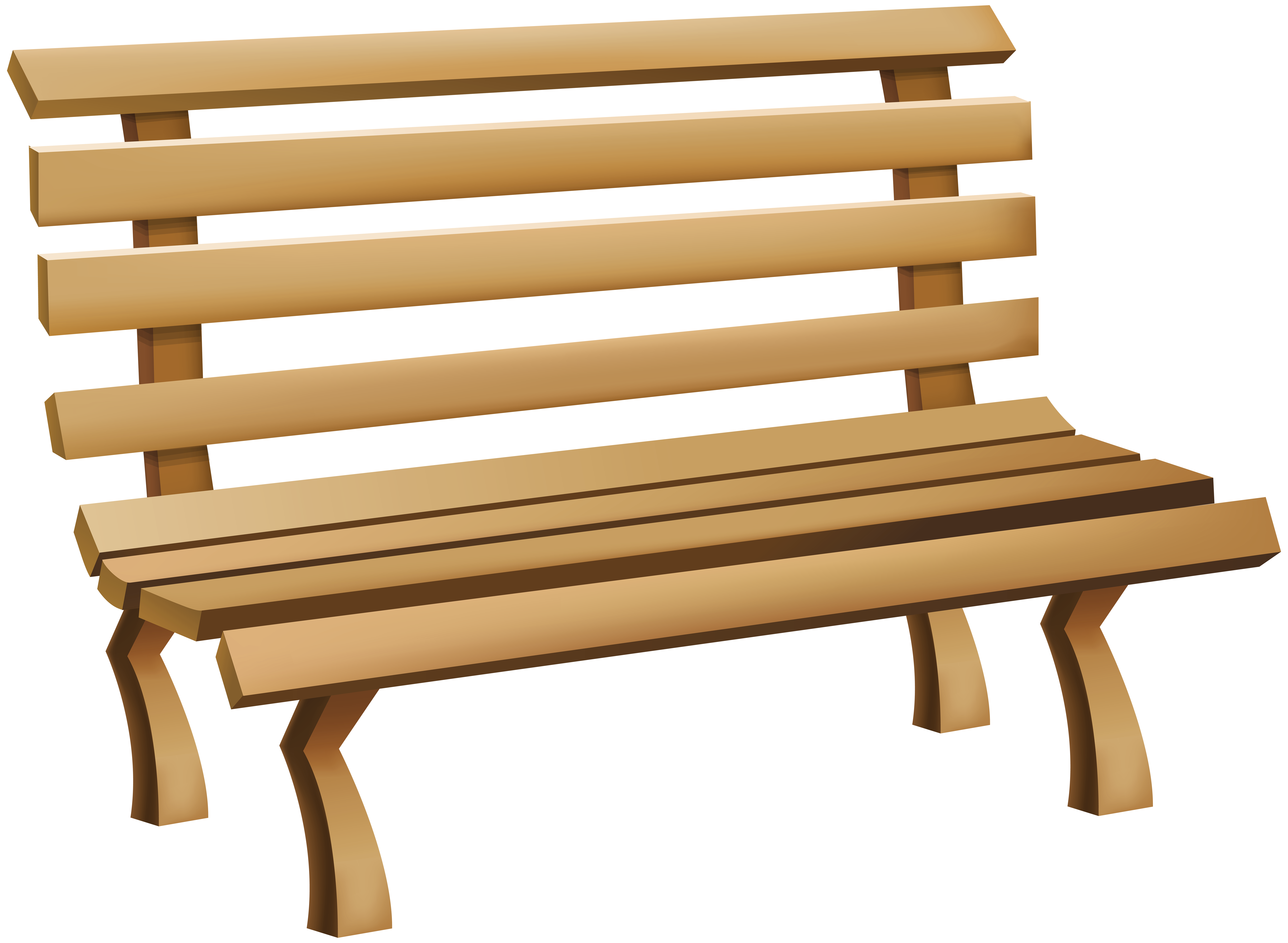 Bench PNG Clip Art Image.