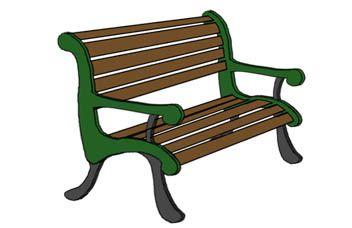 alt=School bench clipart title=School bench clipart.