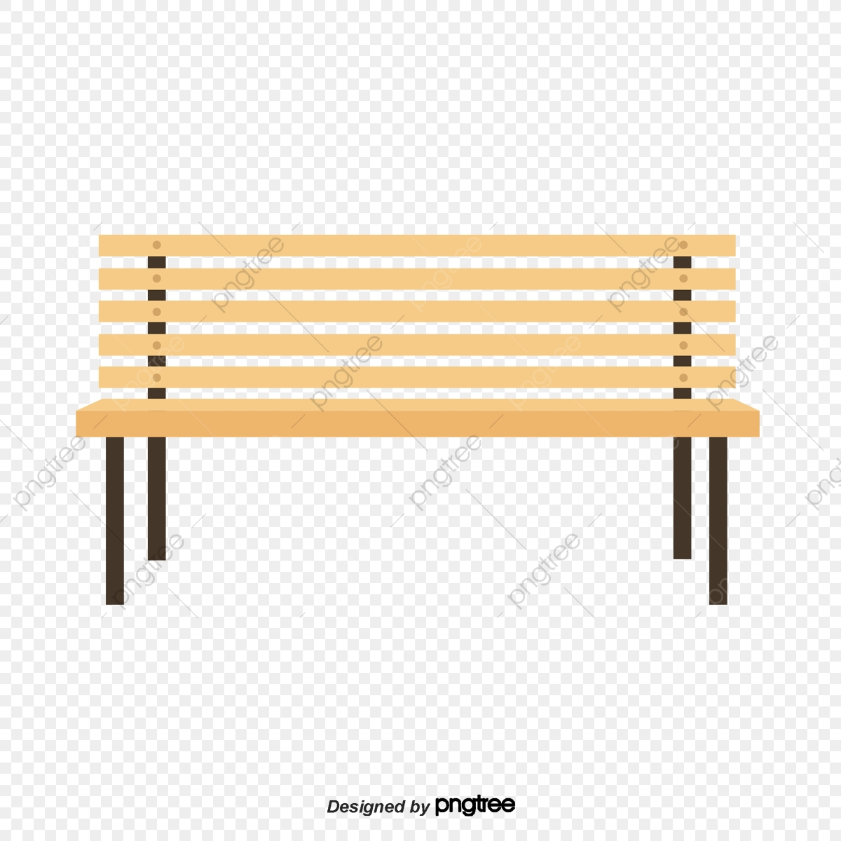 A Wooden Bench In The Park, Park, Chair, Woodiness PNG Transparent.