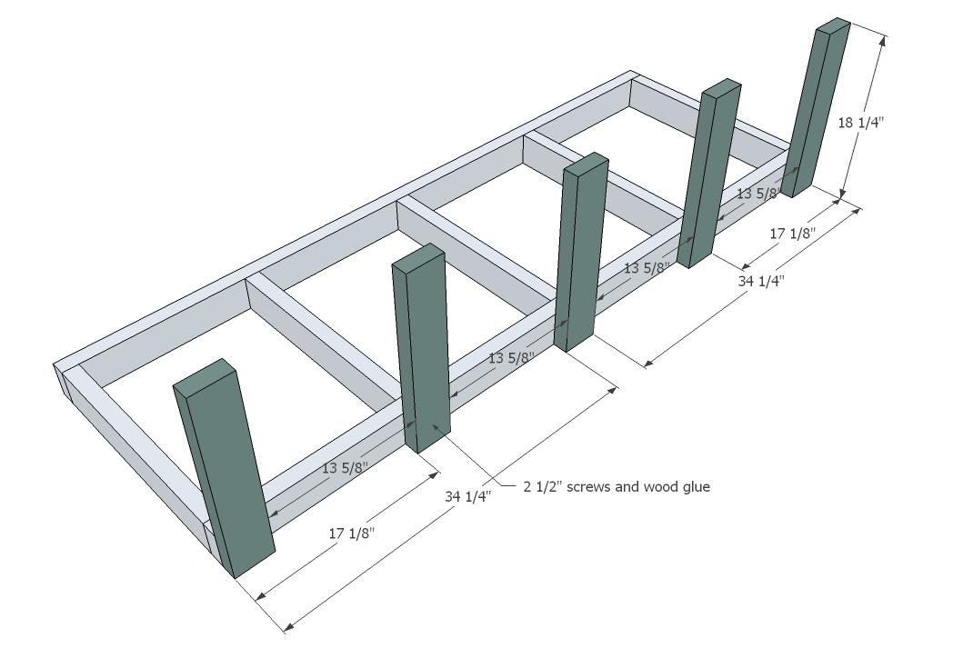 Large Modern Porch Swing or Bench.