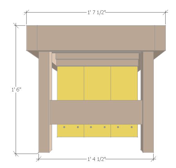 DIY Small Planter Bench.