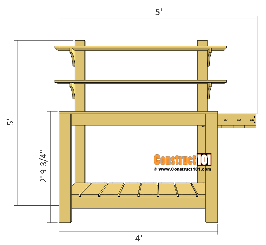 Simple Potting Bench Plans.