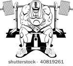Bench Press Free Vector Art.
