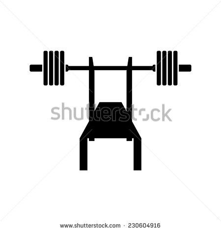 Bench press bar clipart.