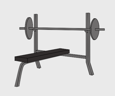 Bench Press Clipart.