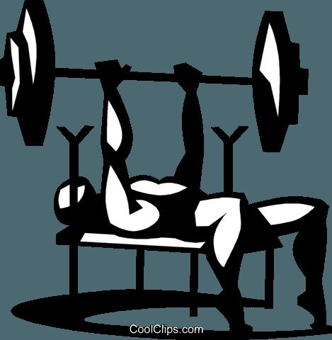 Bench Press Clip Art.