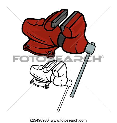 Clipart of Bench vice k23496980.