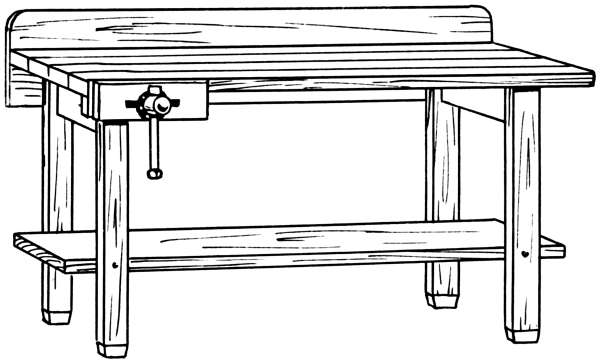 Lobby Bench Clip Art ~ Workbench clipart clipground