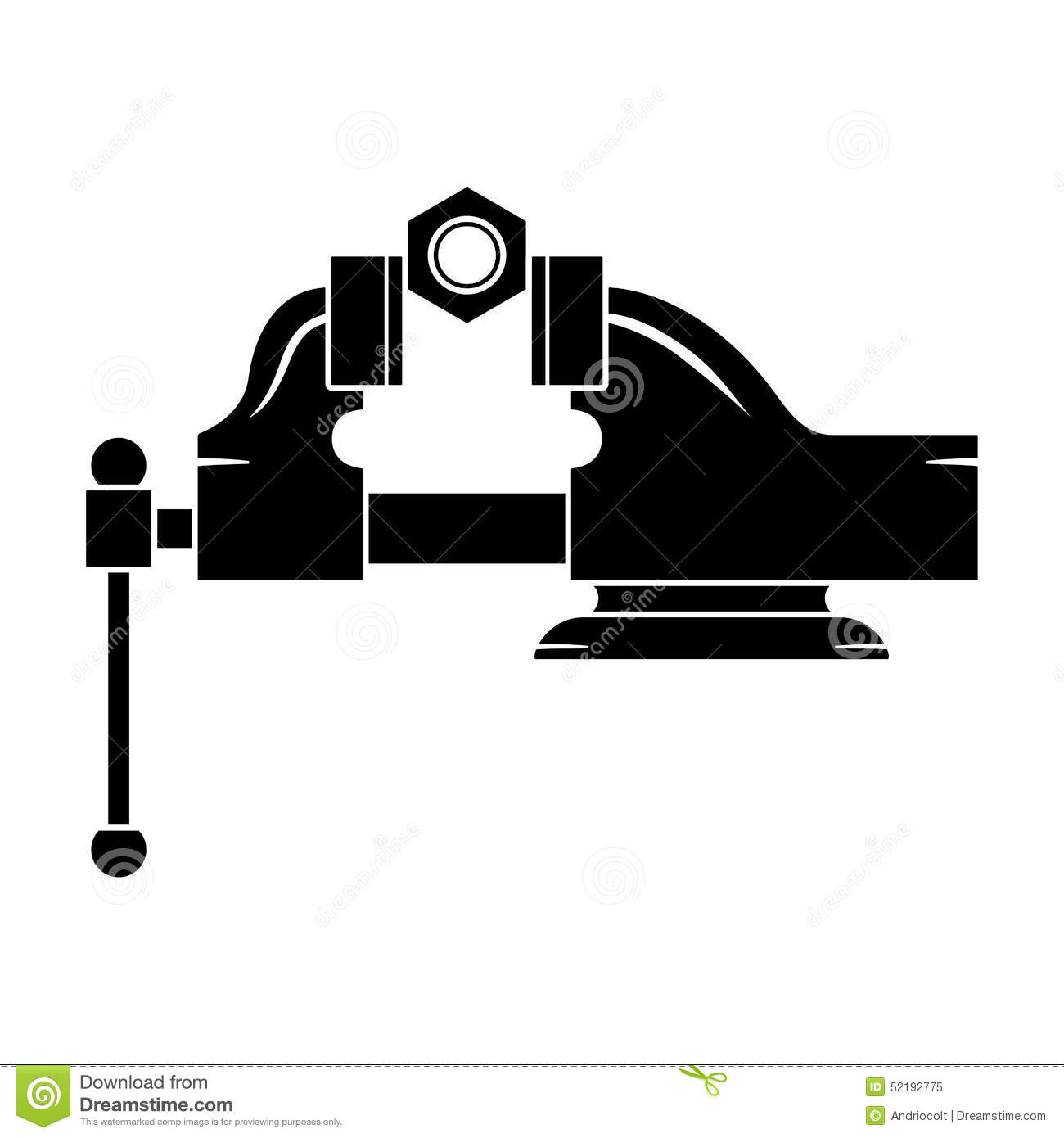 Locksmith Vise Holding Nut Stock Vector.