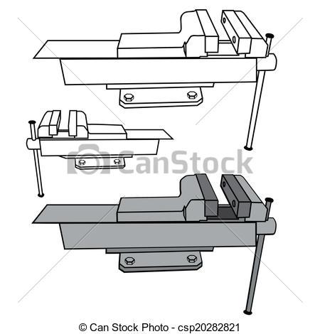 Vector Illustration of Bench vise csp20282821.