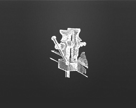 Tool Clip Art Vise Vector Graphic Instant par vectorvintageshop.