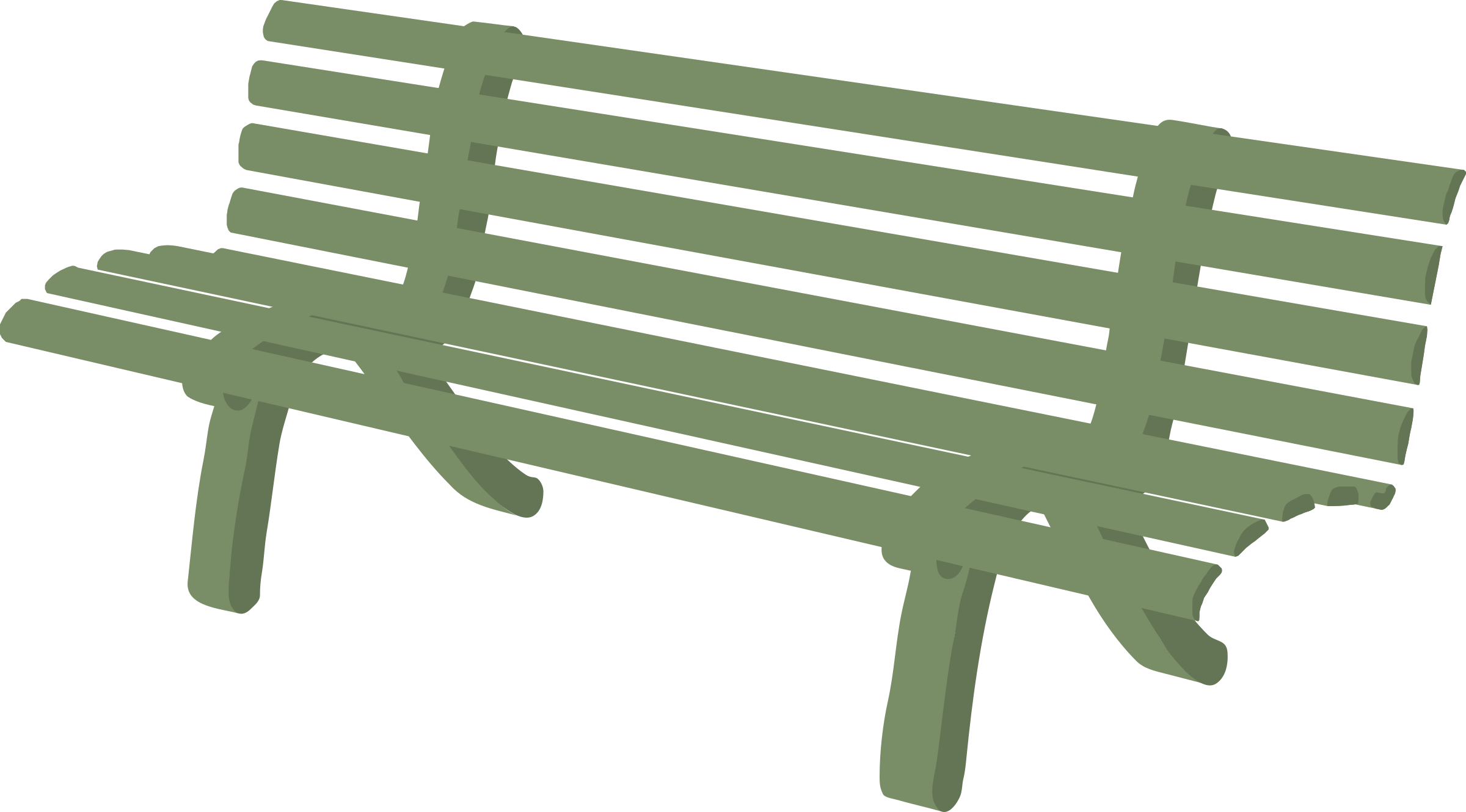 Clipart people on benches.
