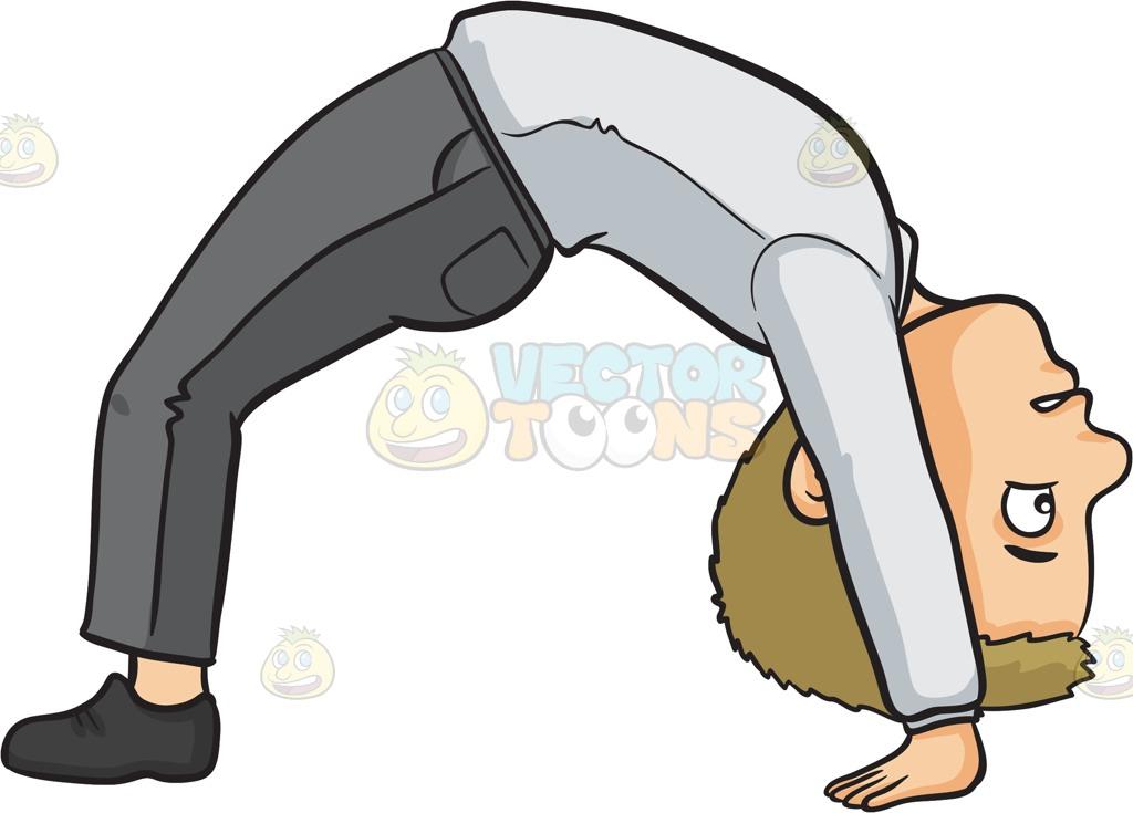 Bend over backwards clipart.
