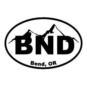 Bend Oregon Cities Oval Sticker.