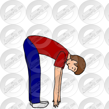 Bend Over Picture for Classroom / Therapy Use.