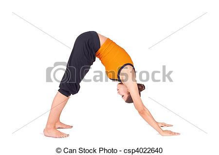 Stock Photography of Fit woman Bending Over.