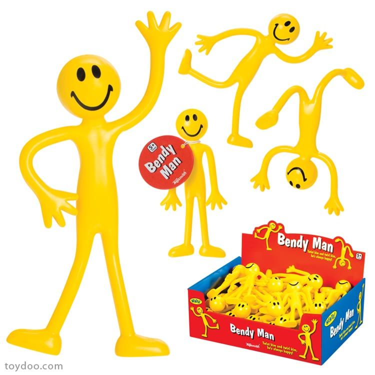 This Bendy Man toy is sure to keep hands busy. These smiley.