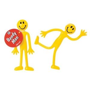 Details about (2) Bendy Man Smiley Bendable Fidget Stress Relief Toy for  Kids.