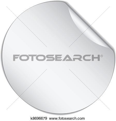 Clip Art of vector white bended sticker k8696679.