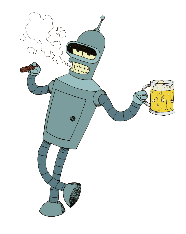 Futurama Bender PNG Image.