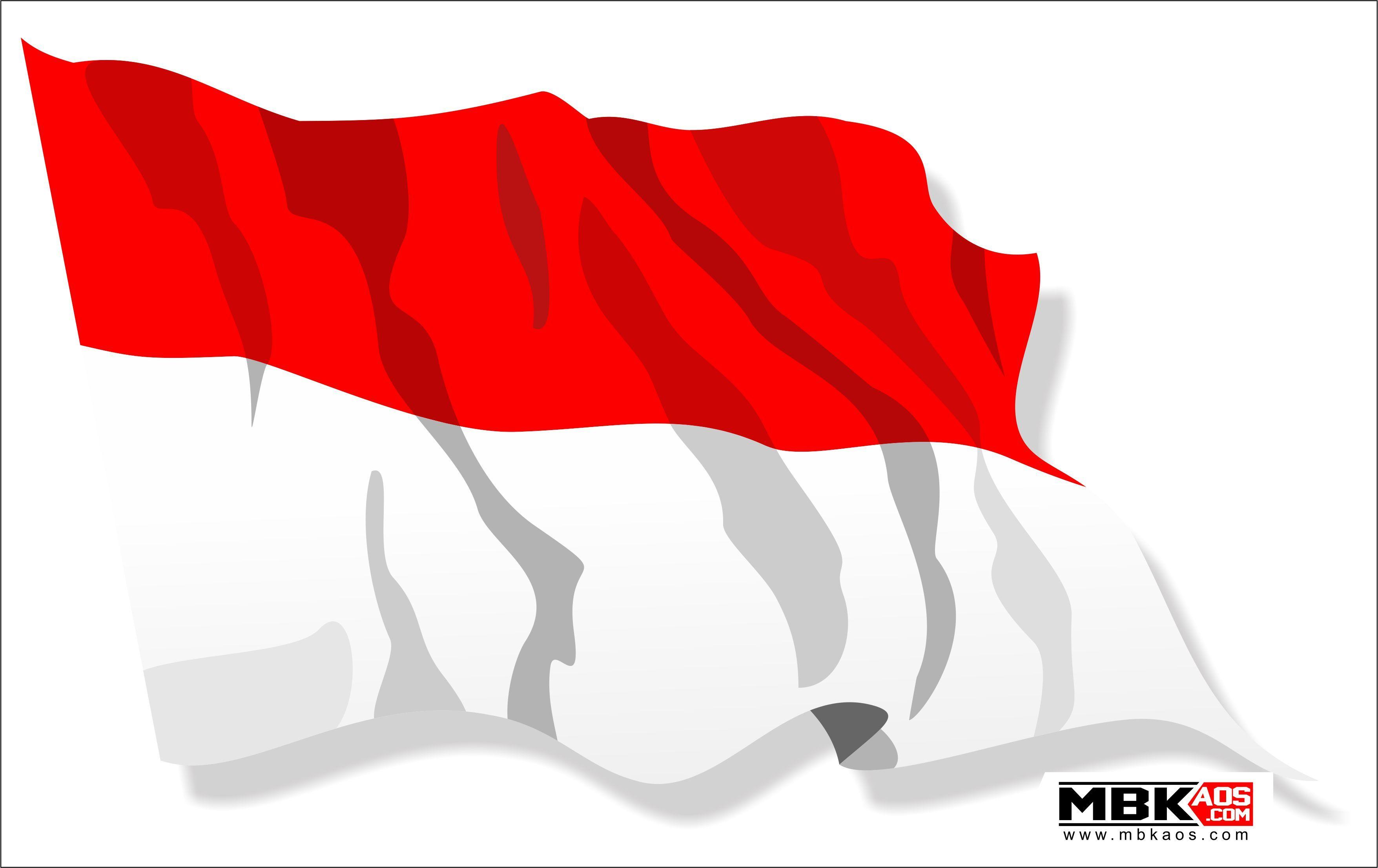Bendera Merah Putih Vector Corel Draw Indonesian Flag Red.