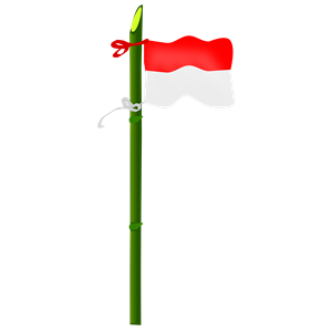 Bamboo and Indonesian flag clipart, cliparts of Bamboo and.