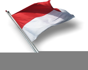 Clipart Bendera Indonesia.