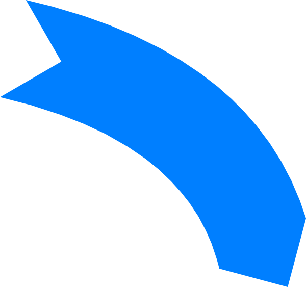 Image of Rounded Arrow Clipart #12502, Curved Arrow Clip Art.
