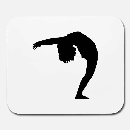 Woman Bending Over Backwards Silhouette Mouse pad Horizontal.