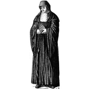 Benedictine Nun Clipart.