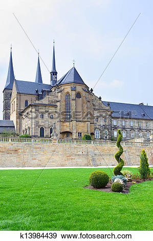 Stock Photograph of Benedictine monastery in Bamberg k13984439.