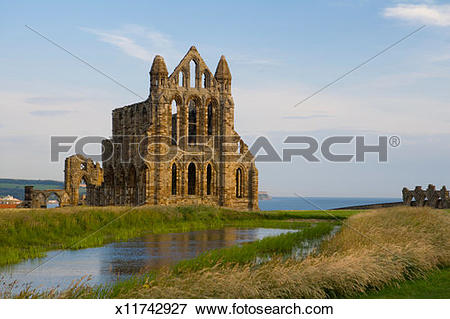 Picture of England, North Yorkshire, Whitby, Benedictine Abbey.