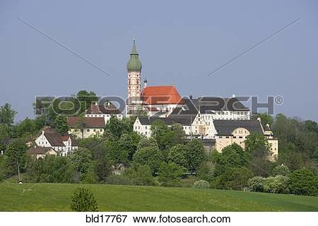 Picture of Andechs upon the Ammersee Upper Bavaria Germany.