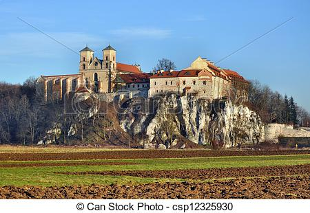 Stock Photos of Benedictine abbey in Tyniec, Krakow, Poland.